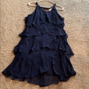 Dress Barn Navy sleeveless dress with gold accent